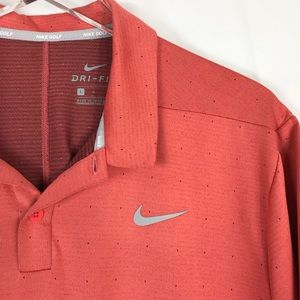 Nike Shirts - Nike Golf Coral Short Sleeve Polo L